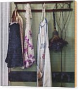 Aprons And Feather Duster Wood Print