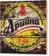 Apuaha Beer Sign Wood Print