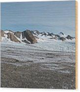 Apusiaquik Glacier Greenalnd Pano 7334-7351 Wood Print