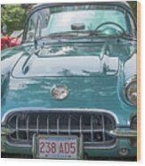 Aqua Blue 1959 Corvette  Wood Print