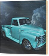 Aqua Blues Wood Print