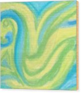 Aqua Duck  Wood Print