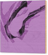 Aqua Floral Wood Print