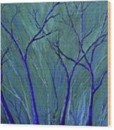 Aqua Forest Wood Print