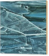 Aqua Ice Wood Print