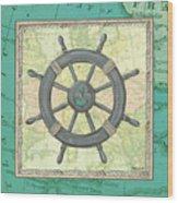 Aqua Maritime Wood Print
