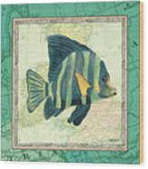 Aqua Maritime Fish Wood Print