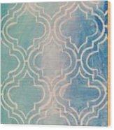 Aqua Moroccan Wood Print