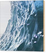 Aqua Ramp - Triptych Part 3 Of 3. Wood Print