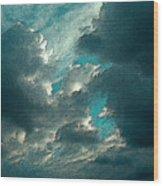 Aqua Sky Wood Print