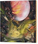 Aqua Valley Wood Print