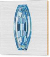 Aquamarine Facet Wood Print