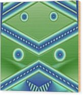 Aquamarine Wood Print