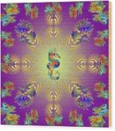 Aquarium Glow Purple Wood Print