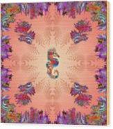 Aquarium Rising Pinks Wood Print