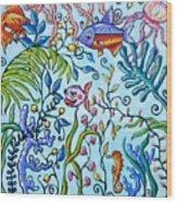 Aquarium Wood Print