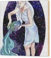 Aquarius Water Bearer Wood Print