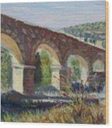 Aqueduct Near Pedraza Wood Print