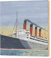 Aquitania-calm Sea And Prosperous Voyage Wood Print