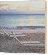 Aruba Beach Sunset Wood Print