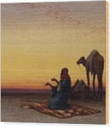 Arab At Prayer Wood Print