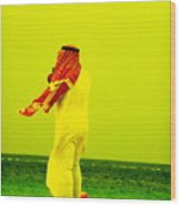 Arab Blown By The Wind  Wood Print