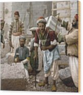 Arab Stonemasons, C1900 - To License For Professional Use Visit Granger.com Wood Print