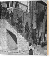 Arab Youths In Bethlehem 1938 Wood Print