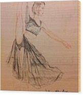 Arabesque On Pointe Wood Print