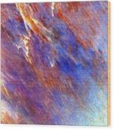Australian Desert From Space Wood Print