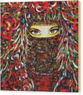 Arabian Eyes Wood Print