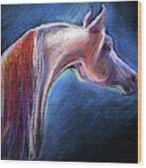 Arabian Horse Equine Painting Wood Print