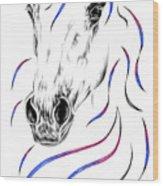 Arabian Horse Style Wood Print