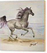 Arabian In Wind Wood Print