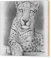 Arabian Leopard Wood Print