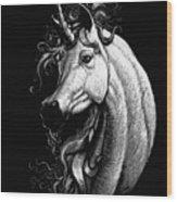 Arabian Unicorn Wood Print