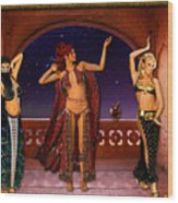 Arabic Dancers Wood Print