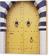 Arabic Door In Tunisia Wood Print