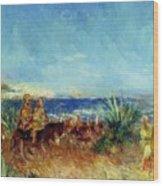 Arabs By The Sea Wood Print