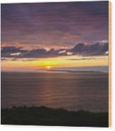 Aran Islands At Sunset Wood Print