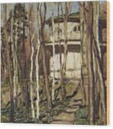 Arbour On The Mound Former Naydenovsky Park Moscow 1920 Apollinaris M Vasnetsov Wood Print