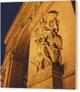 Arc De Triomphe At Night Wood Print