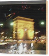 Arc De Triomphe By Bus Tour Greeting Card Poster V2 Wood Print