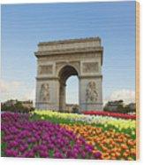Arc De Triomphe In Paris Wood Print