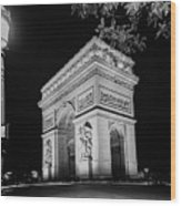 Arc De Triomphe Paris, France  Wood Print