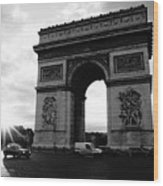 Arc De Triomphe Sunset Paris, France Wood Print