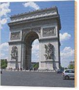 Arc De Triumph In Paris 2 Wood Print