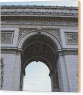 Arc De Triumph In Paris Wood Print