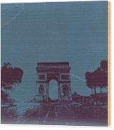 Arc De Triumph Wood Print by Naxart Studio