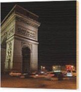 Arc Du Triomphe Paris Wood Print